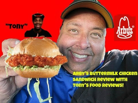 Arby's® Buttermilk Buffalo Chicken Sandwich Review w/ Tony's Food Reviews!