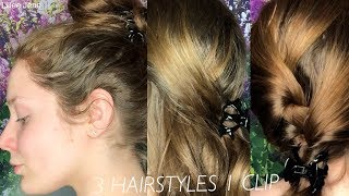 3 Hairstyles Using 1 Jaw Clip   Lillee Jean