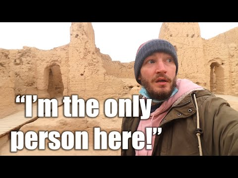 This Ancient City was destroyed by Genghis Khan!   Jiao He Ruins   Turpan China Travel Vlog  
