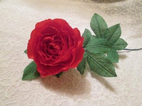 Роза из органзы своими руками мастер класс видео