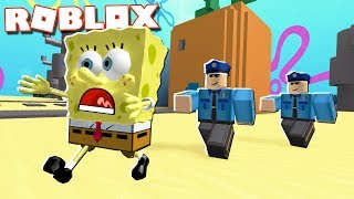 Roblox Adventures - SPONGEBOB ESCAPES FROM PRISON IN ROBLOX (Spongebob Movie Adv Obby)