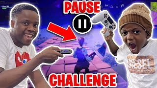 PAUSE CHALLENGE While Playing Fortnite! *EXTREME RAGE*