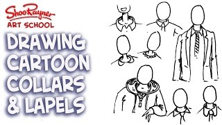 How to draw collars and jacket lapels - How to draw Cartoon People