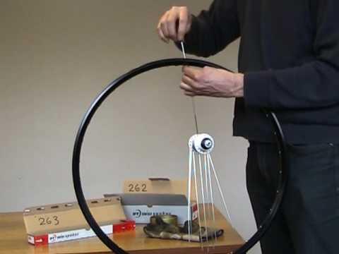 Wheelbuilding lacing a bicycle wheel