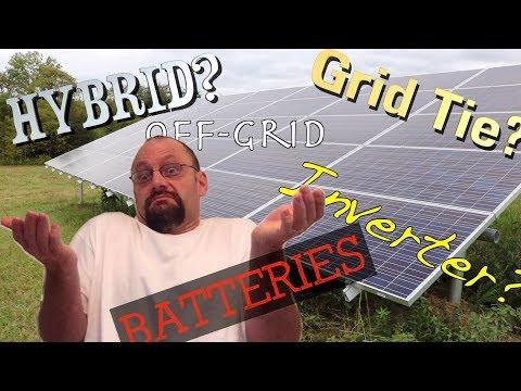 Shedding light on solar power systems.  Grid tie, hybrid, off grid, @#$! FarmCraft101