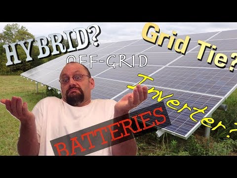 Shedding light on solar power systems.  Grid tie, hybrid, off grid, @#$! FarmCraft101