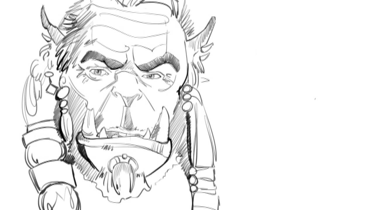 how to draw warcraft characters