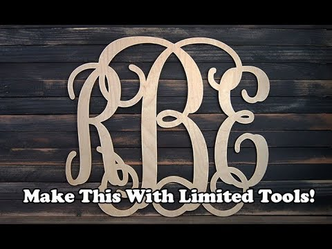 Monogram Sign: Limited Tools Project