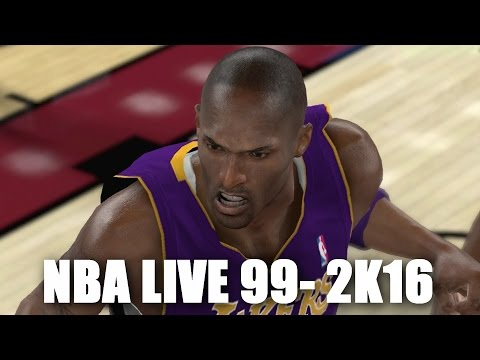 KOBE BRYANT THROUGH THE YEARS - NBA LIVE 99 - NBA 2K16