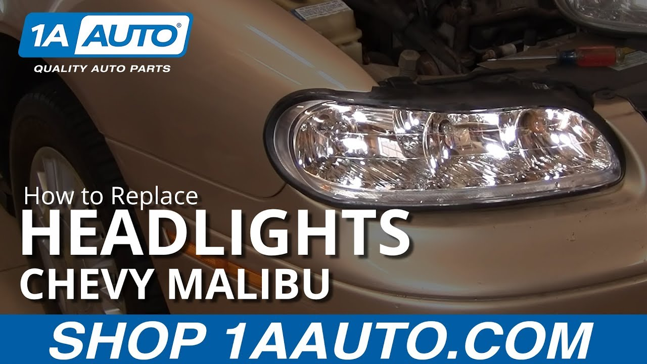 How To Replace Headlight 97 03 Chevy Malibu