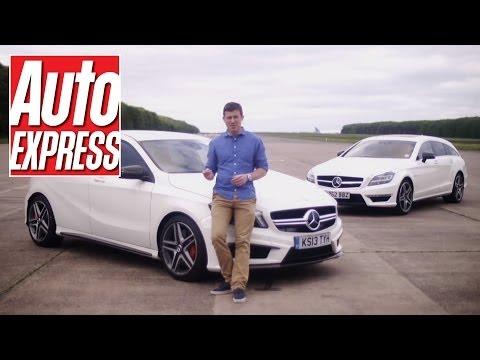 Mercedes A45 AMG vs CLS63 AMG Drag Race - Auto Express