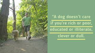A dog doesn't care if you're rich or poor