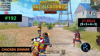 "PUBG MOBILE | ""21 KILLS"" RUSH GAMEPLAY INTENSE MATCH CHICKEN DINNER"