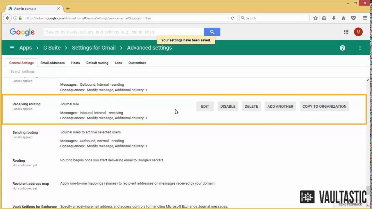 Configuring Mail Routing Rules for Selected Users of a Domain Hosted on G  Suite
