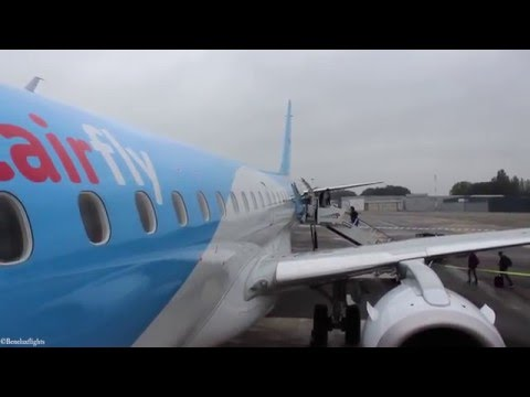 Tripreport: Jetairfly Embraer E190 STD Antwerp airport (Deurne) to Barcelona T2