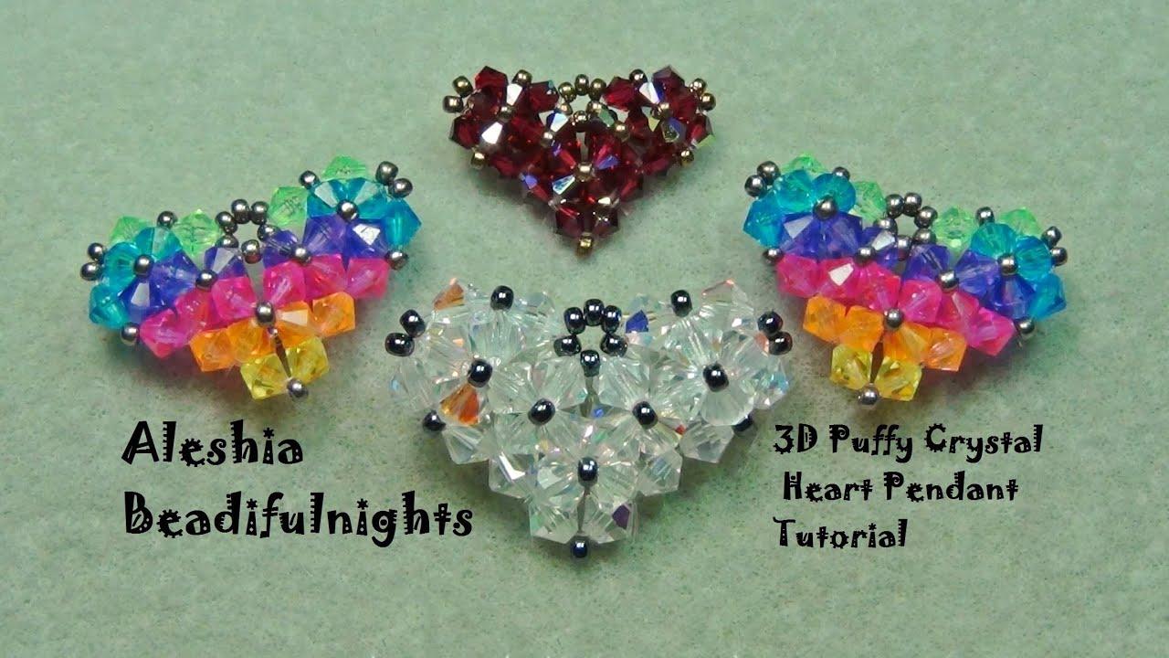 3D Puffy Crystal Heart Pendant Tutorial
