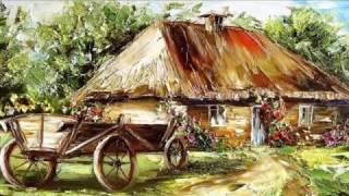 TU JEST MOJE MIEJSCE - AKORDEON  ♣ WIEJSKIE CHATY W MALARSTWIE