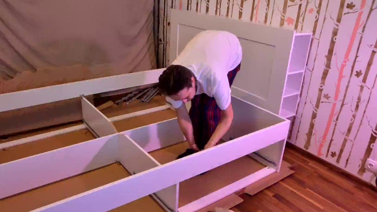 Timelapse Of Ikea Brimnes Bed Assembly