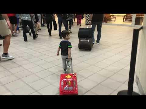 Headed to baggage claim - Orlando airport