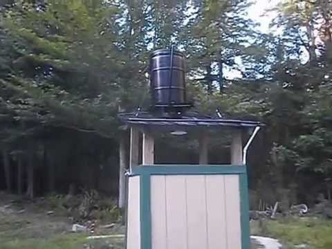 Video Tour Solar Off Grid Outdoor Shower Youtube