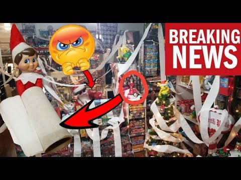ELF ON THE SHELF TOILET PAPERS & DESTROYS OUR HOUSE! WE CAUGHT HIM ON CAMERA STEALING BABY BOTTLES!