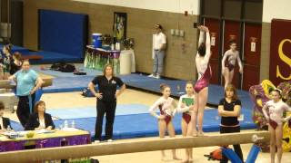 Reese McClure Gymnastics States Level 9 Beam