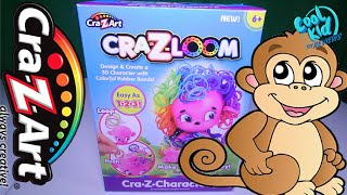 Crazy Art Cra-Z-Loom Mini Monkey with Colorful Hair Bands Customized Toy