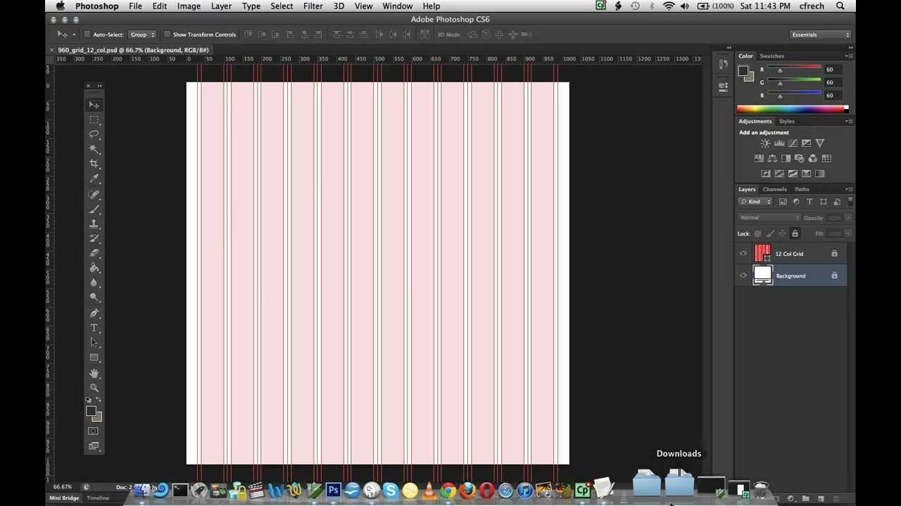 Enchanting Grid Template For Photoshop Composition - Professional ...