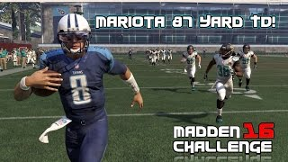 Madden 16 Challenge - CAN I RECREATE MARCUS MARIOTA