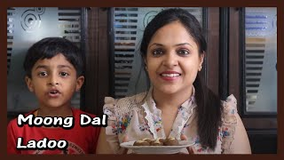 Healthy Moong Dal Ladoo in 5 min for my Chhota Bheem | Green Gram Laddu Recipe for Kids