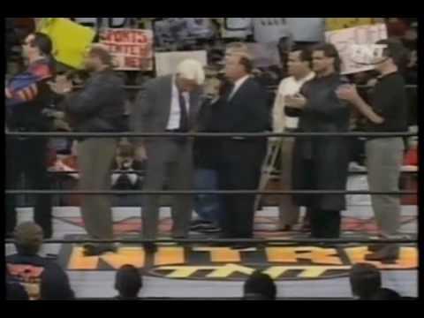 WCW Monday Nitro 1-4-99 Four Horsemen promo w David Flair and Bischoff