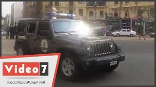 بالفيديو..قوات الانتشار السريع تجوب شوارع وسط البلد فى الذكرى الرابعة لـ