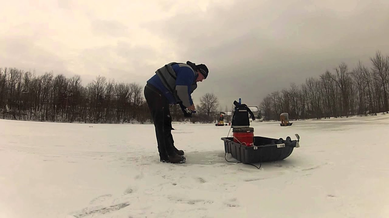 Ice fishing orange county new york 2013 first trip youtube for Ice fishing ny