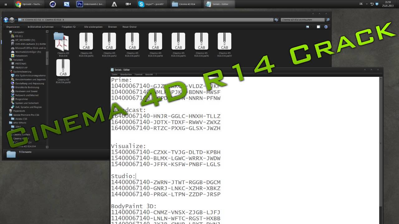 cinema 4d r10 serial numbers mac