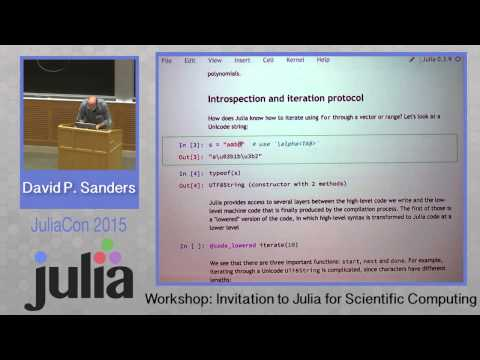 Workshop: David Sanders - Introduction to Julia for scientific Computing