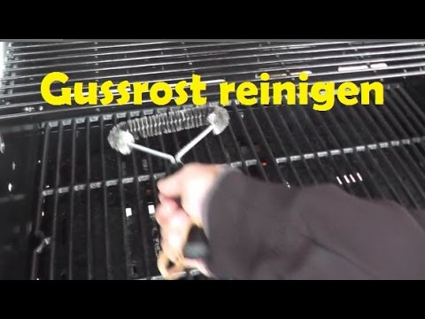 Weber Elektrogrill Rost Reinigen : Grillrost reinigen gussrost youtube