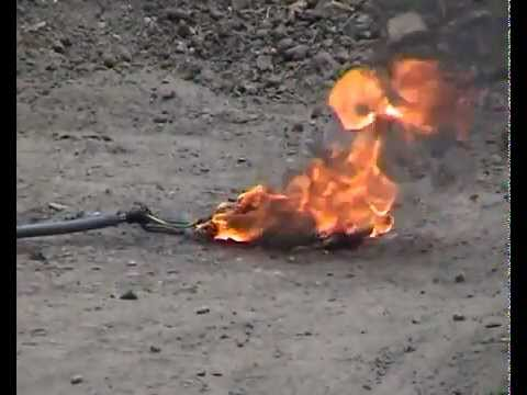 Overcharging a Lithium Battery - Explosion.mp4
