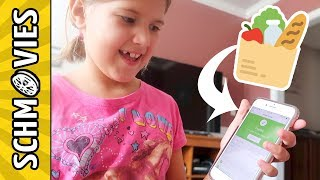 Kids do the Online Grocery Shopping!