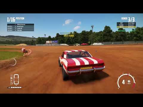 WRECKFEST PS4 GAMEPLAY GERMAN 05 BLOOMFIELD SPEEDWAY ! PS4 PRO