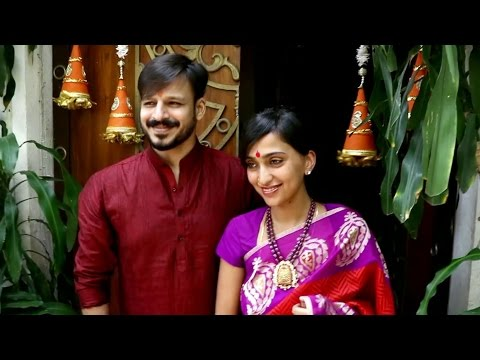 Vivek Oberoi Ganpati Celebration With Family At Home 2016