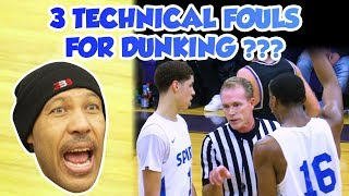 Gambar cover LaMelo Ball 3 Techs for Dunking - FULL GAME Spire vs Vermilion - Lavar Mad at Refs