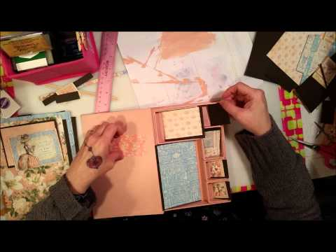 Tim Holtz Configurations Book - Gilded Lily - DT project for Miriam's Crafting Supplies