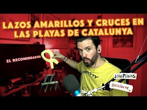 LAZOS AMARILLOS Y CRUCES EN LAS PLAYAS DE CATALUNYA