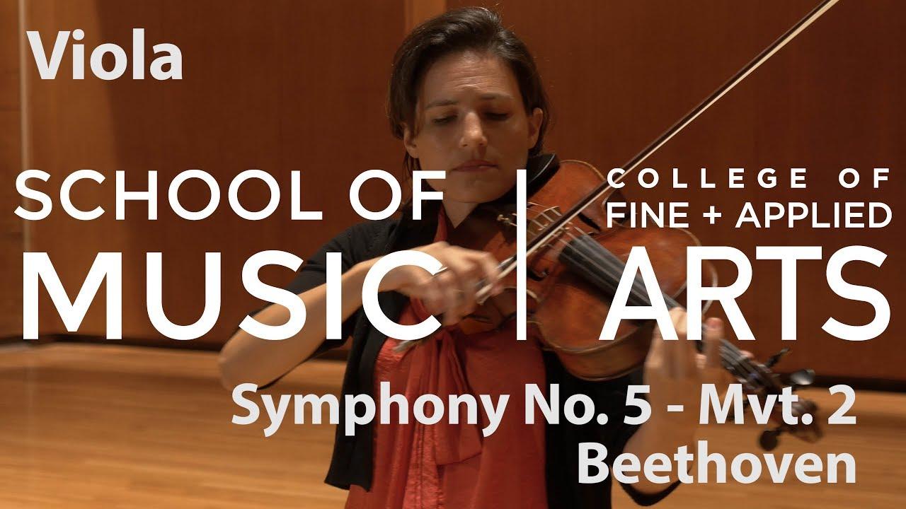 Professor Liz Freivogel: ILMEA Viola - Symphony No  5, Mvt  2 - BEETHOVEN
