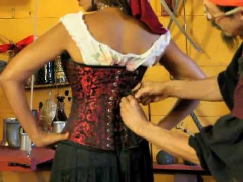 How To Tie A Pirate Wench Corset Youtube