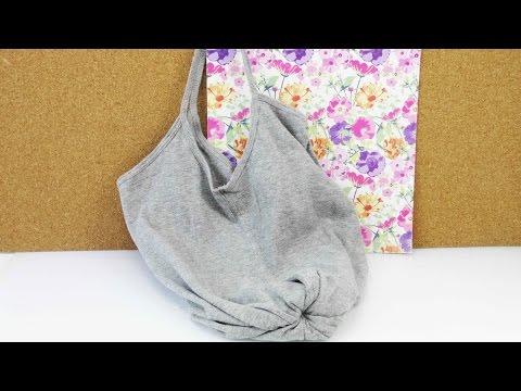 DIY Kleidung wiederverwerten Tasche selber machen ohne nähen