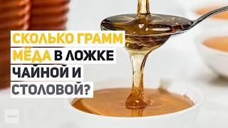 Сколько грамм мёда в ложке чайной и столовой?