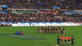 Rugby Italia-Nuova Zelanda, la spettacolare Haka degli All Blacks