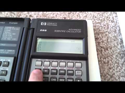 HP-28S Advanced Scientific Calculator (Part 1)