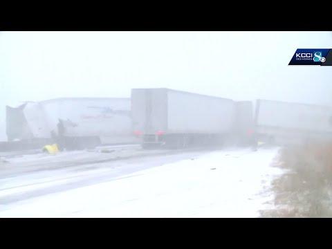 At Least 50 Vehicles Crash In Snowy Iowa Pileup